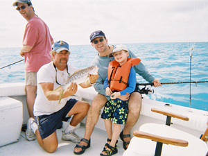 Kids and Family are Welcome on Captain Bobby Manske Fishing Charters